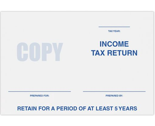 6 x 9 Tax Return Booklet Envelopes 24lb. Bright White - Tax