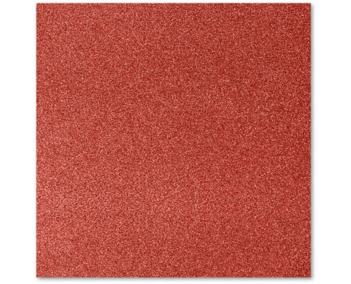 12 x 12 Cardstock Holiday Red Sparkle
