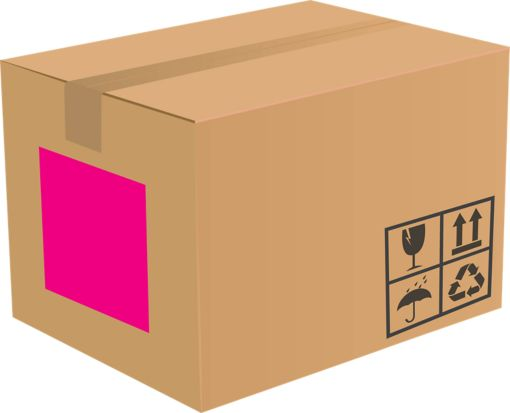 8.5 x 11 Full Sheet Rectangle Labels, 1 Per Sheet Fluorescent Pink