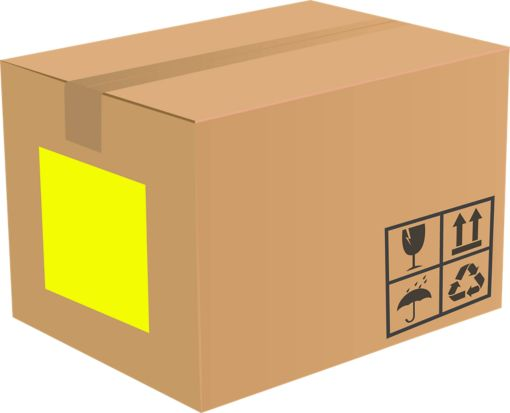 8.5 x 11 Full Sheet Rectangle Labels, 1 Per Sheet Fluorescent Yellow