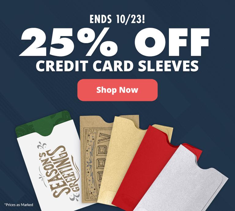 25% Off Credit Card Sleeves | Envelopes.com