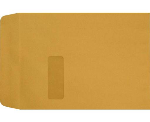 9 x 12 Open End Window Envelopes 28lb. Brown Kraft