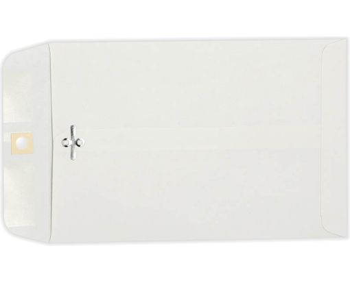 6 x 9 Clasp Envelopes 28lb. Bright White