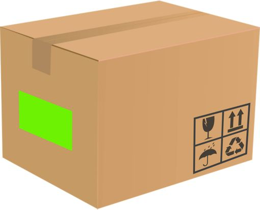 8.5 x 5.5 Half Sheet Rectangle Labels, 2 Per Sheet Fluorescent Green