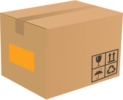 8.5 x 5.5 Half Sheet Rectangle Labels, 2 Per Sheet Fluorescent Orange
