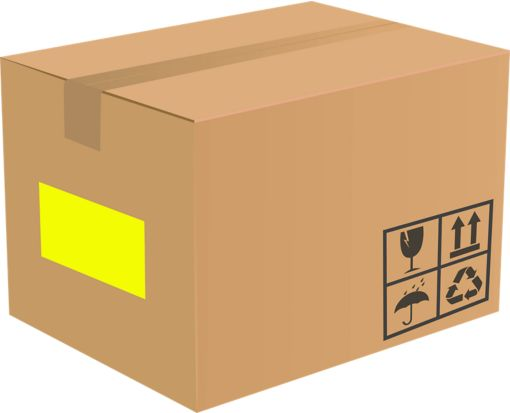 8.5 x 5.5 Half Sheet Rectangle Labels, 2 Per Sheet Fluorescent Yellow