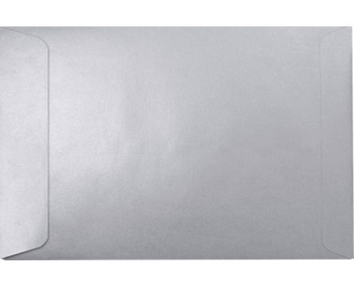 6 x 9 Open End Envelopes Silver Metallic