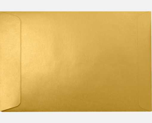 6 x 9 Open End Envelopes Gold Metallic
