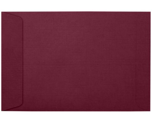6 x 9 Open End Envelopes Burgundy Linen