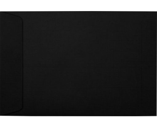 6 x 9 Open End Envelopes Black Linen