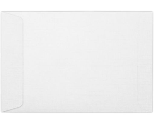 6 x 9 Open End Envelopes White Linen