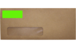 2.625 x 1 Standard Address Labels, 30 Per Sheet Fluorescent Green