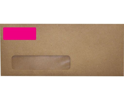 2.625 x 1 Standard Address Labels, 30 Per Sheet Fluorescent Pink