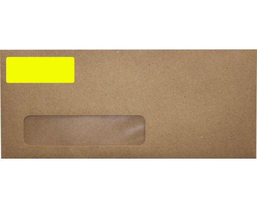 2.625 x 1 Standard Address Labels, 30 Per Sheet Fluorescent Yellow