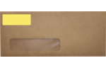 2.625 x 1 Standard Address Labels, 30 Per Sheet Pastel Yellow
