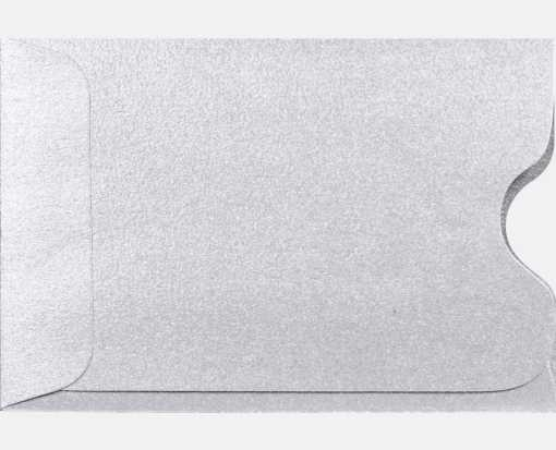 Credit Card Sleeve (2 3/8 x 3 1/2) Silver Metallic