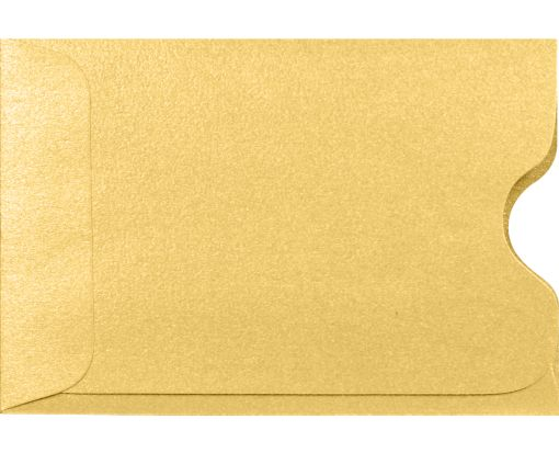 Credit Card Sleeve (2 3/8 x 3 1/2) Gold Metallic