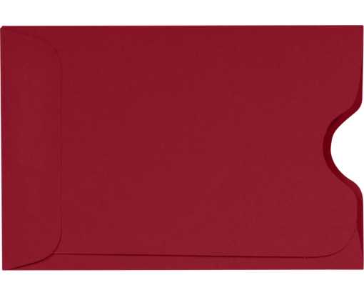 Credit Card Sleeve (2 3/8 x 3 1/2) Garnet