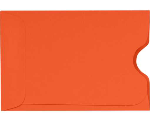 Credit Card Sleeve (2 3/8 x 3 1/2) Tangerine