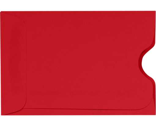 Credit Card Sleeve (2 3/8 x 3 1/2) Holiday Red