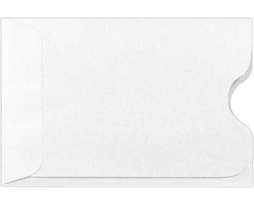 Credit Card Sleeve (2 3/8 x 3 1/2) Crystal Metallic