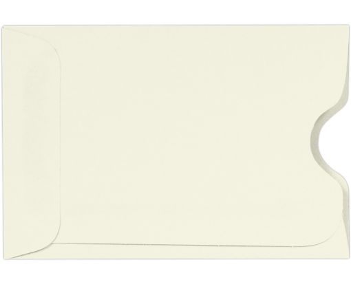 Credit Card Sleeves (2 3/8 x 3 1/2) 80lb. Natural