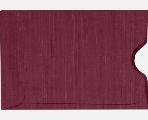 Credit Card Sleeves (2 3/8 x 3 1/2) Burgundy Linen