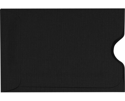 Credit Card Sleeves (2 3/8 x 3 1/2) Black Linen