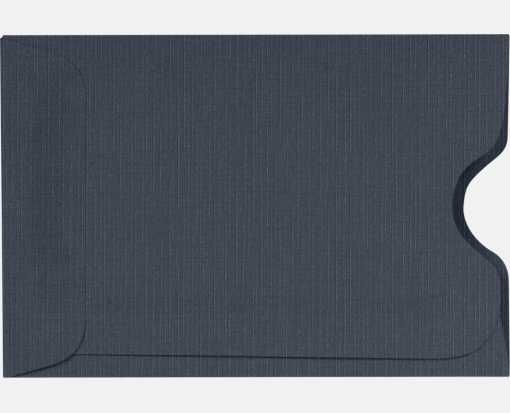 Credit Card Sleeves (2 3/8 x 3 1/2) Nautical Blue Linen