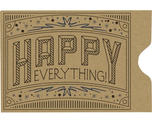 Credit Card Sleeve (2 3/8 x 3 1/2) Happy Everything on Grocery Bag