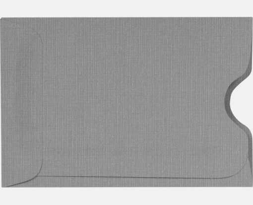 Credit Card Sleeves (2 3/8 x 3 1/2) Sterling Gray Linen
