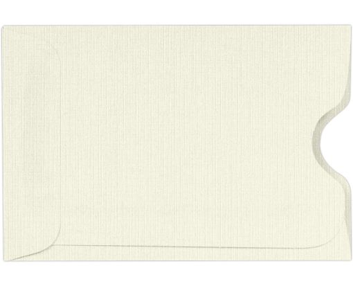 Credit Card Sleeves (2 3/8 x 3 1/2) Natural Linen
