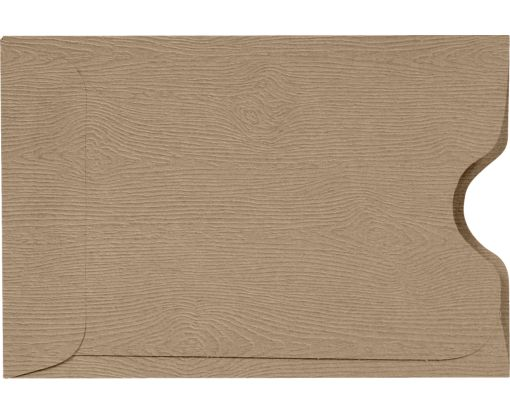 Credit Card Sleeve (2 3/8 x 3 1/2) Oak Woodgrain