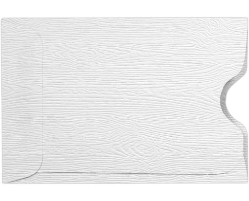 Credit Card Sleeve (2 3/8 x 3 1/2) White Birch Woodgrain