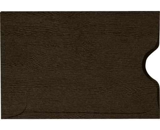 Credit Card Sleeve (2 3/8 x 3 1/2) Teak Woodgrain
