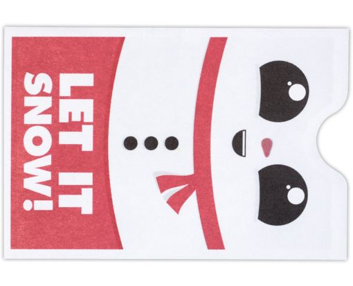 Credit Card Sleeve Envelopes (2 3/8 x 3 1/2) Let It Snow!