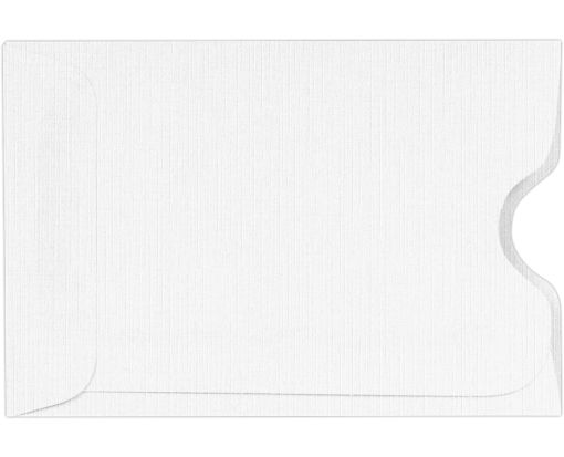 Credit Card Sleeves (2 3/8 x 3 1/2) White Linen