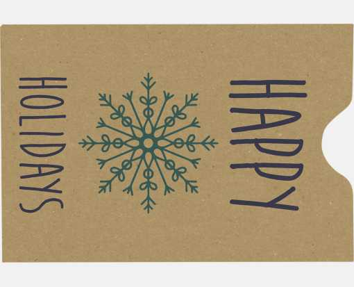 Credit Card Sleeve Envelopes (2 3/8 x 3 1/2) Happy Holidays