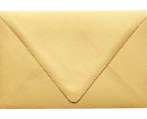 6 x 9 Booklet Contour Flap Envelopes Gold Metallic