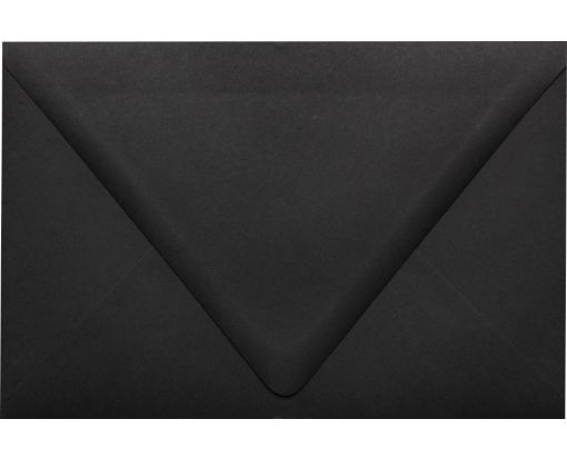 6 x 9 Booklet Contour Flap Envelopes Midnight Black