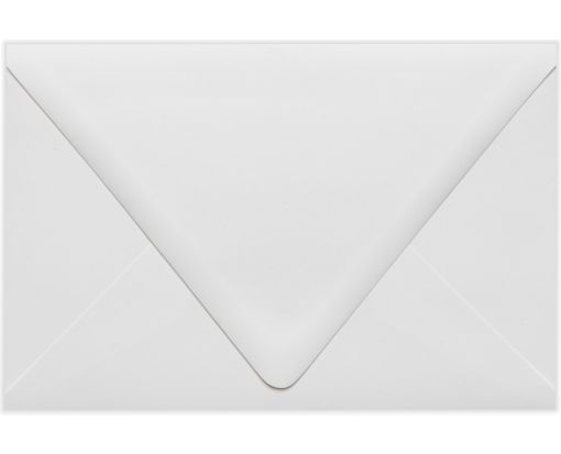 6 x 9 Booklet Contour Flap Envelopes White - 100% Recycled