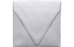 5 x 5 Square Contour Flap Envelopes Silver Metallic