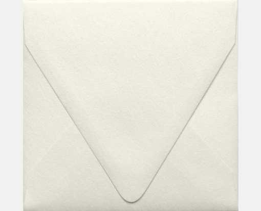 5 x 5 Square Contour Flap Envelopes Quartz Metallic