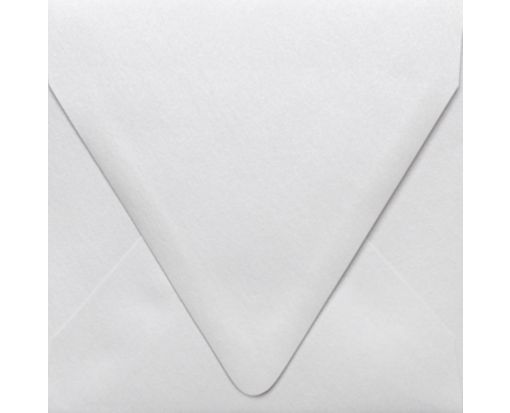 5 x 5 Square Contour Flap Envelopes Crystal Metallic
