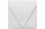 5 x 5 Square Contour Flap Envelopes Crystal Metallic