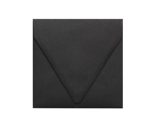 5 x 5 Square Contour Flap Envelopes Midnight Black