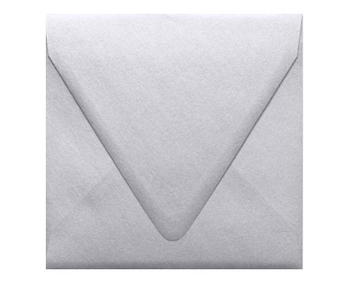 6 1/2 x 6 1/2 Square Contour Flap Envelopes Silver Metallic