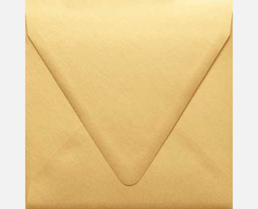 6 1/2 x 6 1/2 Square Contour Flap Envelopes Gold Metallic