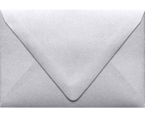 A1 Contour Flap Envelopes (3 5/8 x 5 1/8) Silver Metallic
