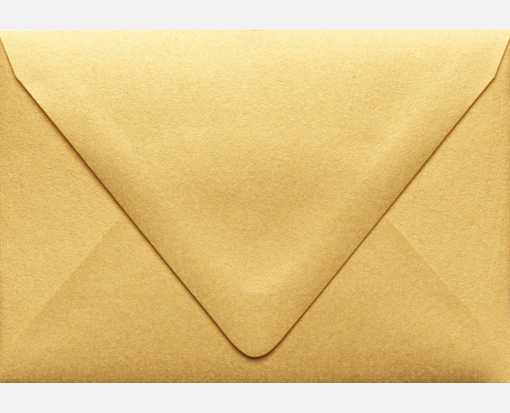 A1 Contour Flap Envelopes (3 5/8 x 5 1/8) Gold Metallic